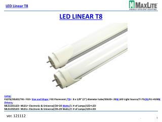 LED Linear T8