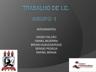 TRABALHO DE  I.C.