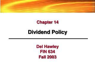 Del Hawley FIN 634
