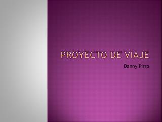 Proyecto de viaje