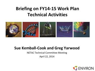 Briefing on FY14-15 Work Plan Technical Activities
