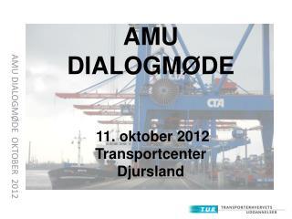 AMU DIALOGMØDE   OKTOBER   2012