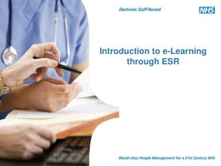 Introduction to e-Learning through ESR