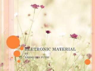ELETRONIC MATERIAL
