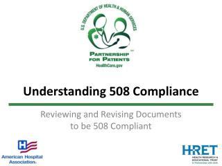 Understanding 508 Compliance
