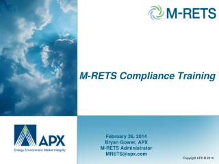 M-RETS Compliance Training