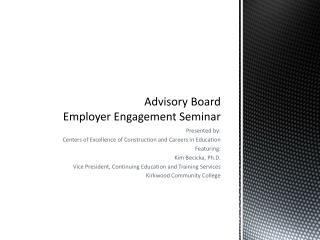 Advisory Board Employer Engagement Seminar