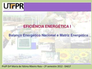 Profª Drª  Maria de Fátima Ribeiro Raia – 2º semestre 2012 - DAELT
