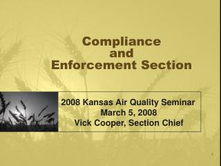 Compliance  and  Enforcement Section