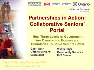 Partnerships in Action: Collaborative Seniors' Portal