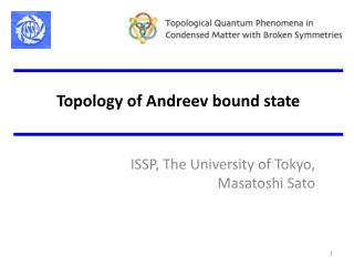 Topolo gy of Andreev bound state