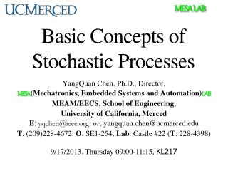 Basic Concepts of Stochastic Processes
