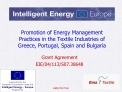 Promotion of Energy Management Practices in the Textile Industries of Greece, Portugal, Spain and Bulgaria