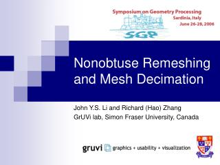 Nonobtuse Remeshing and Mesh Decimation