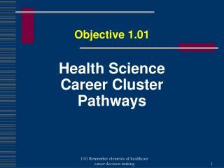 Health Science Career  Cluster Pathways