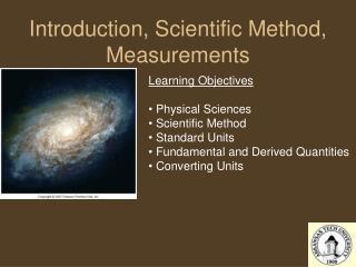 Introduction, Scientific Method, Measurements