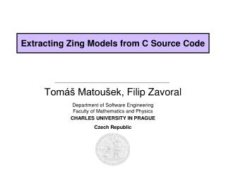 Extracting Zing Models from C Source Code