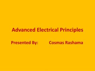 Advanced Electrical Principles