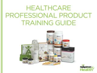 Isagenix Healthcare Pro Product Training