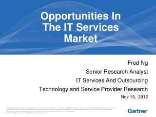 Opportunities In The IT Services Market