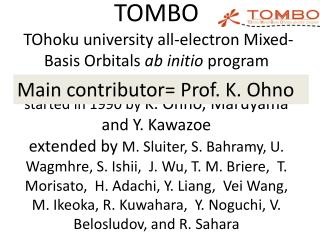 Main contributor= Prof. K.  Ohno