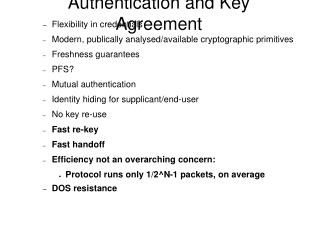 Authentication and Key Agreement