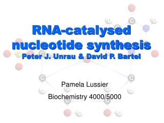 RNA-catalysed nucleotide synthesis Peter J. Unrau & David P. Bartel