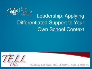 Leadership: Applying Differentiated Support to Your Own School Context