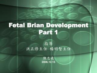 Fetal Brian Development Part 1