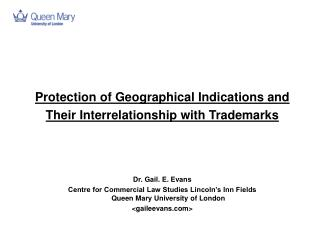 Protection of Geographical Indications and  Their Interrelationship with Trademarks