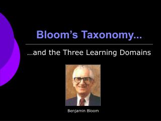 Bloom's Taxonomy...