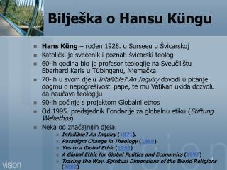 Bilješka o Hansu  Küng u