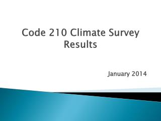 Code 210 Climate Survey Results