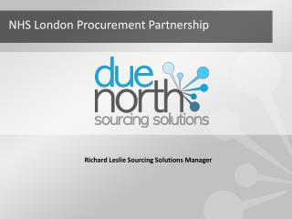 Richard Leslie Sourcing Solutions Manager