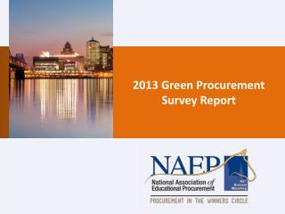 2013 Green Procurement Survey Report
