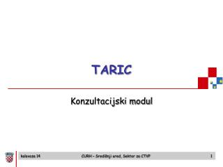 TARIC