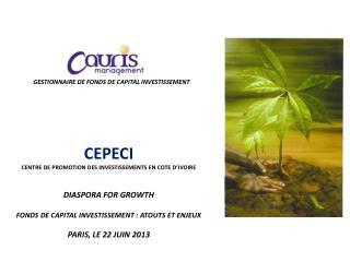 GESTIONNAIRE DE FONDS DE CAPITAL INVESTISSEMENT