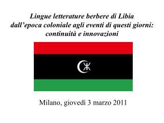 Milano, giovedì 3 marzo 2011