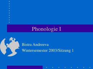 Phonologie I