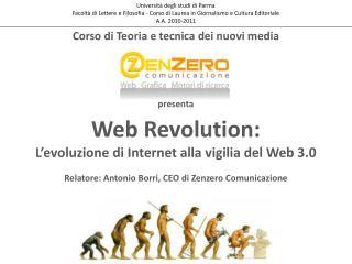 Web  Revolution :  L'evoluzione di Internet alla vigilia del Web 3.0