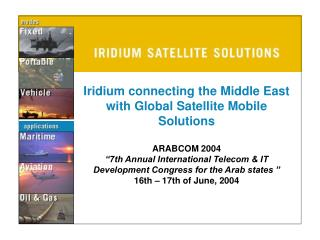Stay Connected with Iridium......