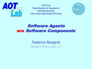 Software Agents are  Software Components