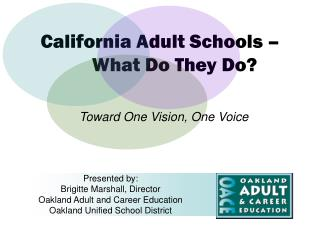 California Adult Schools   What Do They Do