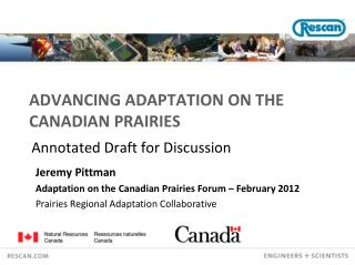 Advancing Adaptation on the Canadian Prairies