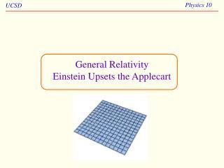 General Relativity  Einstein Upsets the Applecart