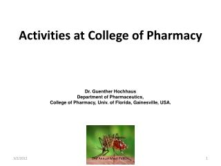 Activities at College of Pharmacy