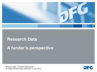 Research Data A funder's perspective
