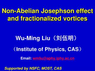 Non-Abelian Josephson effect and fractionalized vortices