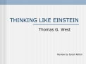 THINKING LIKE EINSTEIN