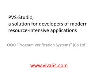 PVS-Studio,  a solution for developers of modern resource-intensive applications